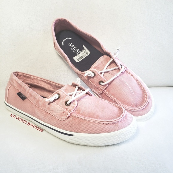 Womens Sperry Lounge Away Washed Canvas